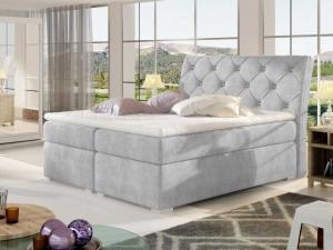 Čalouněná postel BALVIN Boxsprings 140 x 200 cm Provedení: Omega 02