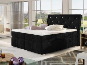 Čalouněná postel BALVIN Boxsprings 160 x 200 cm Provedení: Kronos 07