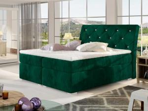 Čalouněná postel BALVIN Boxsprings 160 x 200 cm Provedení: Kronos 19