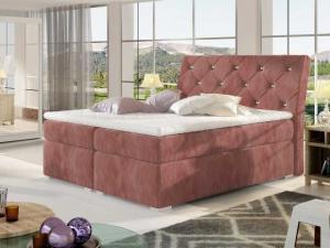 Čalouněná postel BALVIN Boxsprings 160 x 200 cm Provedení: Kronos 29