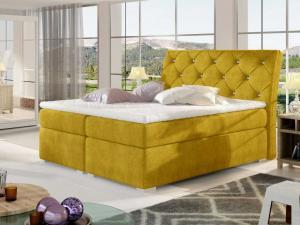 Čalouněná postel BALVIN Boxsprings 160 x 200 cm Provedení: Omega 68