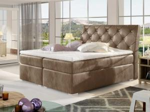 Čalouněná postel BALVIN Boxsprings 180 x 200 cm Provedení: Monolith 09