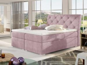 Čalouněná postel BALVIN Boxsprings 180 x 200 cm Provedení: Omega 91