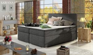 Čalouněná postel DIVALO Boxsprings 180 x 200 cm Provedení: Sawana 05