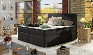 Čalouněná postel DIVALO Boxsprings 180 x 200 cm Provedení: Soft 11