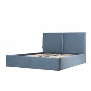 Čalouněná postel Hold 140x200 dvoulůžko - modré