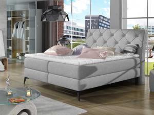 Čalouněná postel LAOS Boxsprings 140 x 200 cm Provedení: Sawana 21
