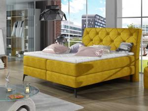Čalouněná postel LAOS Boxsprings 180 x 200 cm Provedení: Omega 68