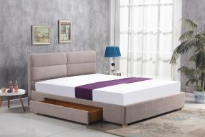 Čalouněná postel Merida 160x200 dvoulůžko - béžové