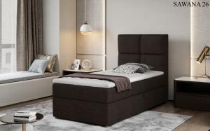 Čalouněná postel RIVIA Boxsprings 90 x 200 cm Provedení: Sawana 26