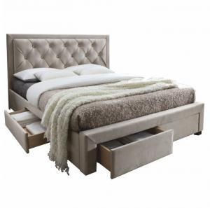 Čalúnená posteľ PREMIUM 160x200 cm sivohnedá