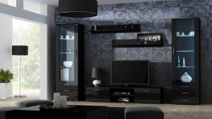 CAMA MEBLE Obývacia stena SOHO 4 Farba: čierna