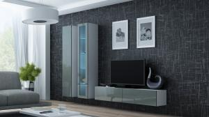 CAMA MEBLE Obývacia stena VIGO 10 Farba: biela/sivá