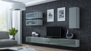 CAMA MEBLE Obývacia stena VIGO 11 Farba: biela/sivá