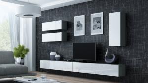 CAMA MEBLE Obývacia stena VIGO 13 Farba: sivá/biela