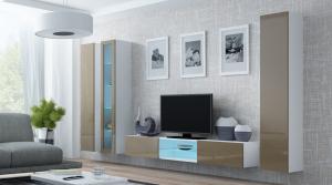 CAMA MEBLE Obývacia stena VIGO 18 Farba: biela/latte