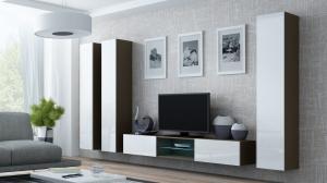 CAMA MEBLE Obývacia stena VIGO 18 Farba: latte/biela