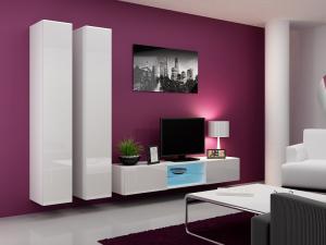 CAMA MEBLE Obývacia stena VIGO 19 Farba: biela