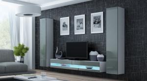 CAMA MEBLE Obývacia stena VIGO NEW 4 Farba: biela/sivá
