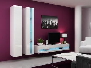 CAMA MEBLE Obývacia stena VIGO NEW 5 Farba: biela