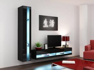 CAMA MEBLE Obývacia stena VIGO NEW 8 Farba: čierna