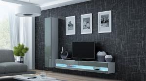 CAMA MEBLE Obývacia stena VIGO NEW 9 Farba: biela/sivá