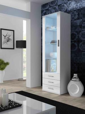 CAMA MEBLE Soho S1 vitrína biela / biely lesk
