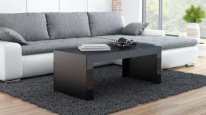 CAMA MEBLE Tess konferenčný stolík čierna / čierny lesk