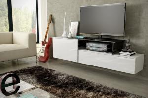 CAMA MEBLE Závesný televízny stolík SIGMA 3 Farba: biela/čierna