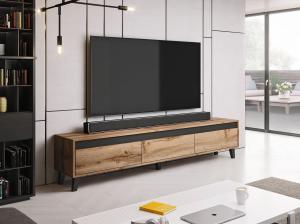 Cama Televízny stolík NORD, Wotan / antracit