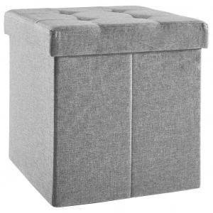 Carryhome SEDACÍ BOX, textil, kompozitné drevo, 38/38/38 cm - antracitová