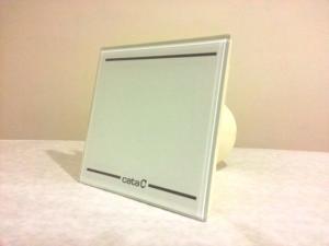 Cata ventilátor E-100 GLT Light Timer, Led podsvietenie, sklenený kryt, 00900001