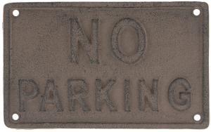 Ceduľka No parking - 19*12*0.5 cm
