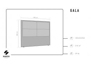 Čelo postele Gala – 200 × 10 × 120 cm