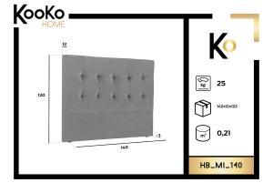 Čelo postele Mi – 140 × 10 × 120 cm