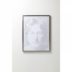 Černobílý obraz Idol John Lenon (Pixel efekt)