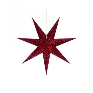 Červená svetelná dekorácia Markslöjd Velours, výška 75 cm