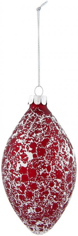 Červená vianočné gule šiška - Ø 7 * 12 cm
