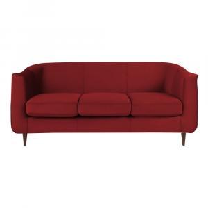 Červená zamatová pohovka Kooko Home Glam, 175 cm