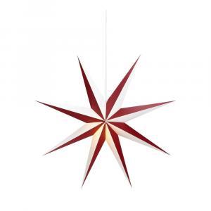 Červeno-biela svetelná dekorácia Markslöjd Saturnus, ø 75 cm
