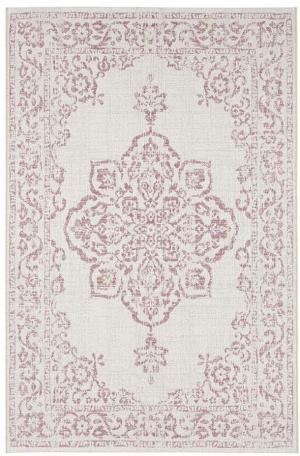 Červeno-krémový vonkajší koberec Bougari Tilos, 80 x 150 cm