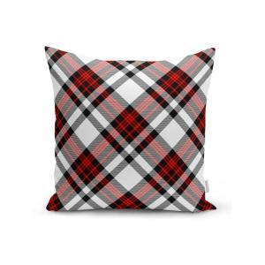 Červeno-sivá dekoratívna obliečka na vankúš Minimalist Cushion Covers Flannel, 35 x 55 cm
