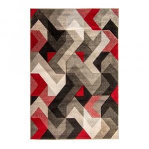 Červeno-sivý koberec Flair Rugs Aurora, 120×170 cm