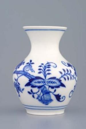 Český porcelán, a.s., Dubí Váza 10 cm, cibulák, Český porcelán