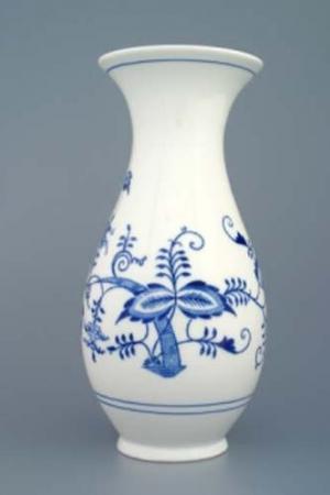 Český porcelán, a.s., Dubí Váza 25,5 cm, cibulák, Český porcelán