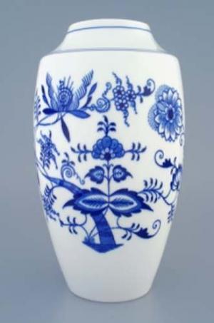 Český porcelán, a.s., Dubí Váza 27 cm, cibulák, Český porcelán