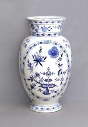 Český porcelán, a.s., Dubí Váza Dux  48 cm, cibulák, Český porcelán