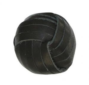Chic Antique Koženková úchytka Black ⌀ 3 cm