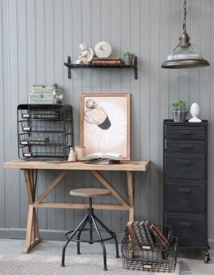 Chic Antique Stolná dekoratívna lampička Antique Coal