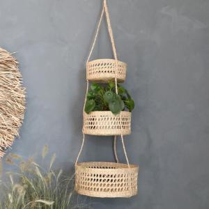 Chic Antique Závesný set košíkov Seagrass